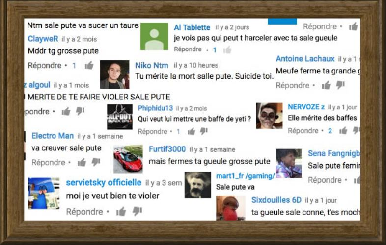 Commentaires cyberharcelement
