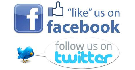 Like us on fb follow us on twitter